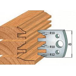 Комплекты ножей и ограничителей серии 690/691 #124 CMT Ножи и ограничители для фрез 40 мм Ножи
