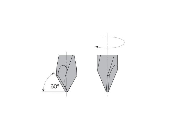 L=57,5 S=Ø10x20 Сквозные свёрла CMT Свёрла и зенкеры Инструмент